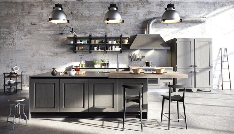 Cucine ristrutturate - Cucina Industriale
