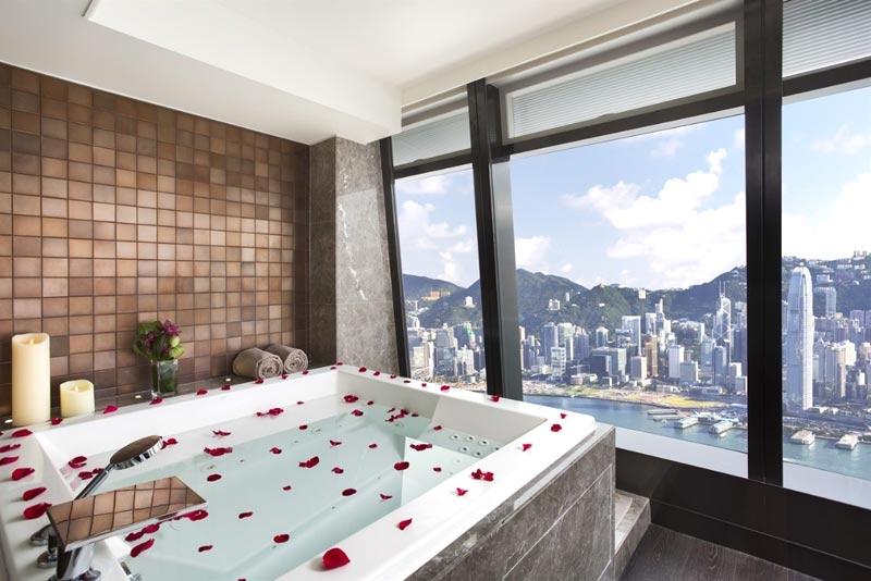 Bagno della Royal Suite del Ritz Carlton di Hong Kong