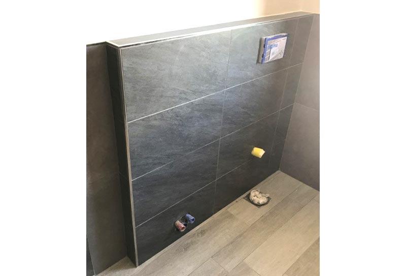 Cassetta di scarico wc interna ad una parete