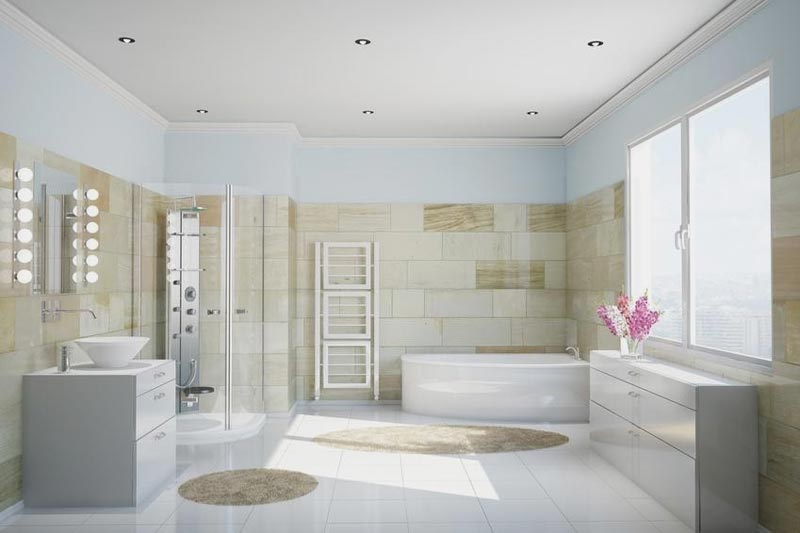 Bagno con vasca e doccia foto 3