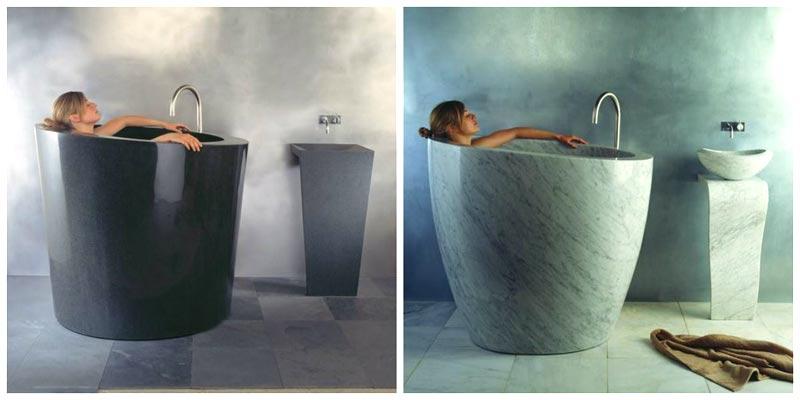 Vasche da bagno mignon in pietra Eau Stone forest