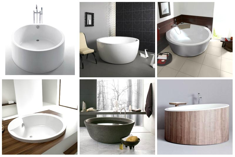 Vasche da bagno piccole rotonde