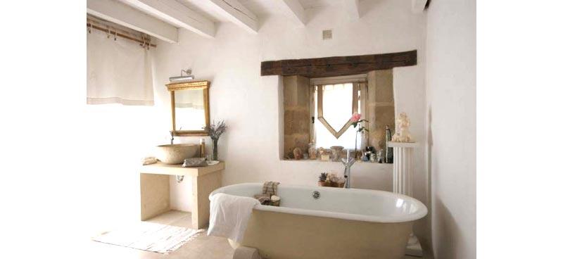 Progetto bagno in stile rustico