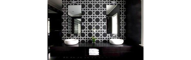 Progetto restauro bagno color nero
