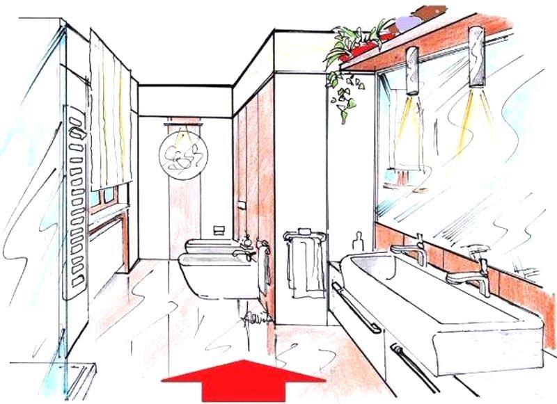 Progetto in 3d ristrutturazione bagno