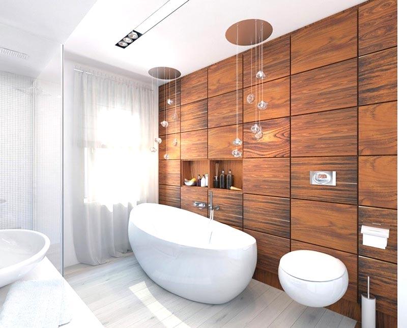 Rivestimento bagno in legno