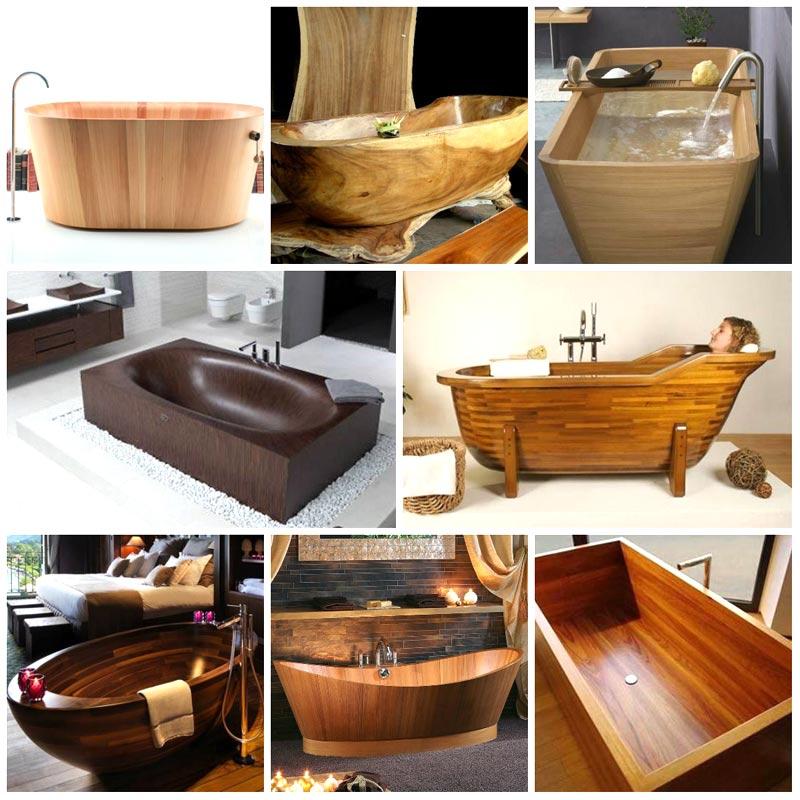 Vasche da bagno piccole in legno