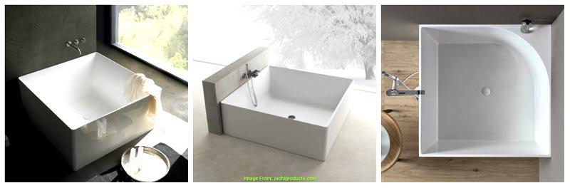 Vasche da bagno quadrate piccole