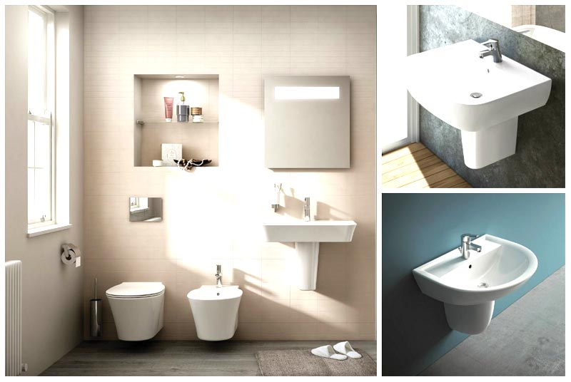 Lavabi da bagno su semicolonna foto