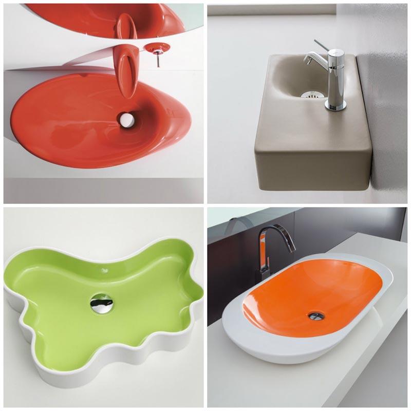 Lavabi bagno colorati foto 3