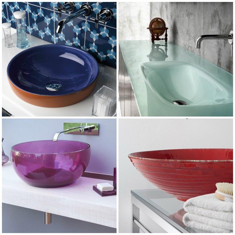 Lavabi bagno colorati foto 4