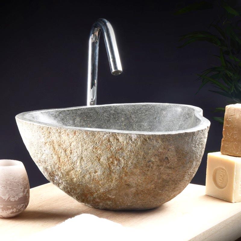 Lavabi da bagno in pietra Tikamoon