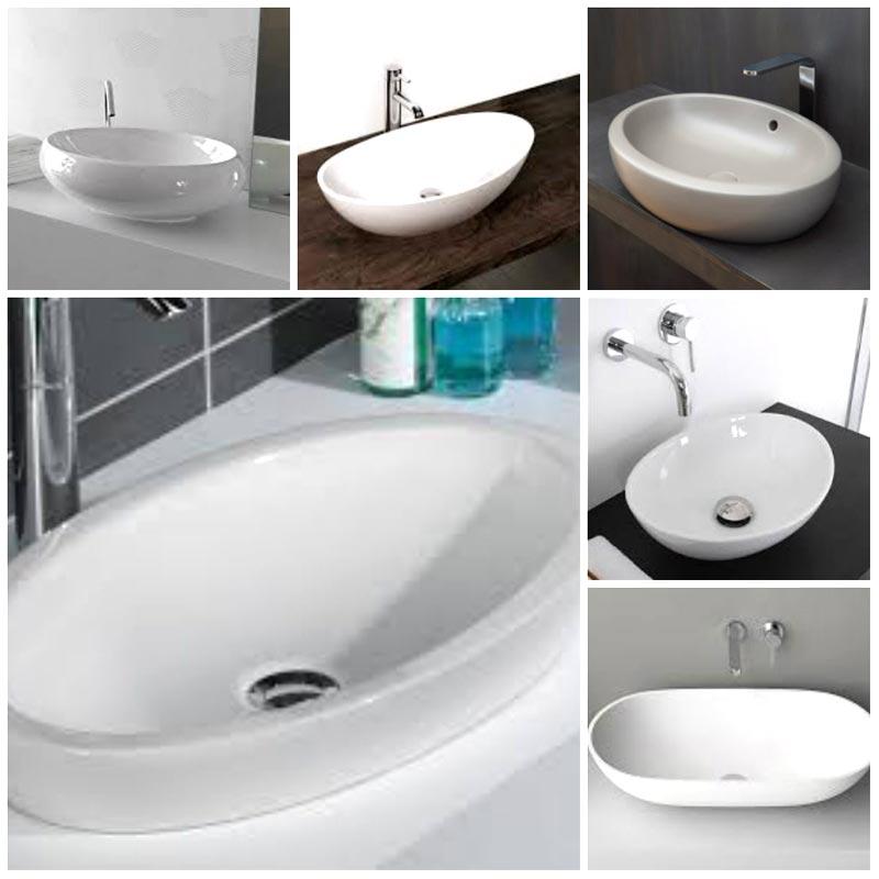 Lavabi bagno forma ovale