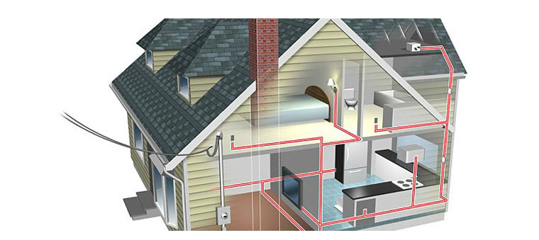 Impianto elettrico di casa disegno