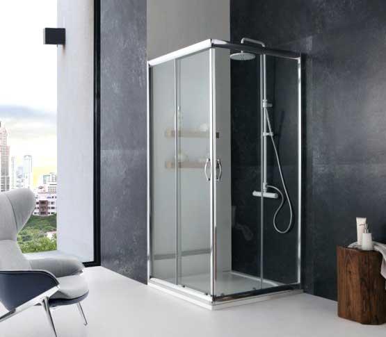 Box doccia quadrato ad angolo parete