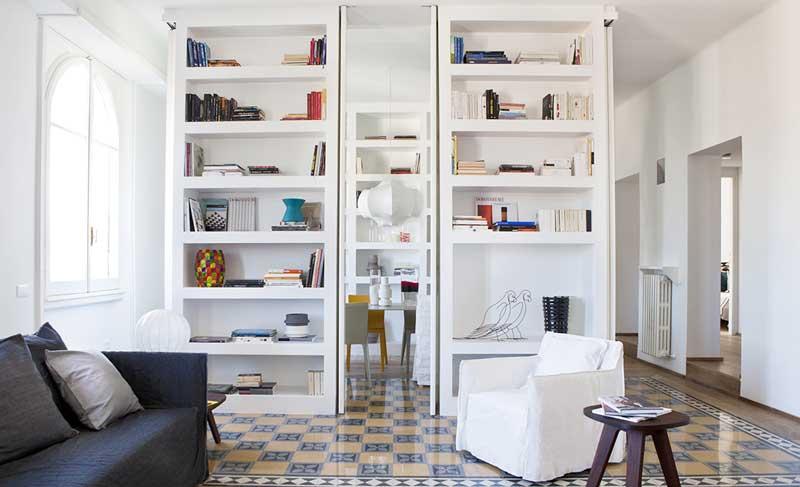 Libreria a parete in cartongesso foto esempio