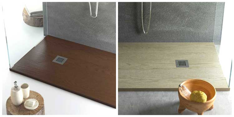 Piatto doccia effetto legno