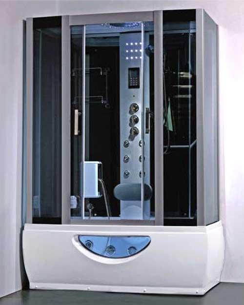 Cabina doccia con bagno turco e vasca idromassaggio 150x85 o 167x85