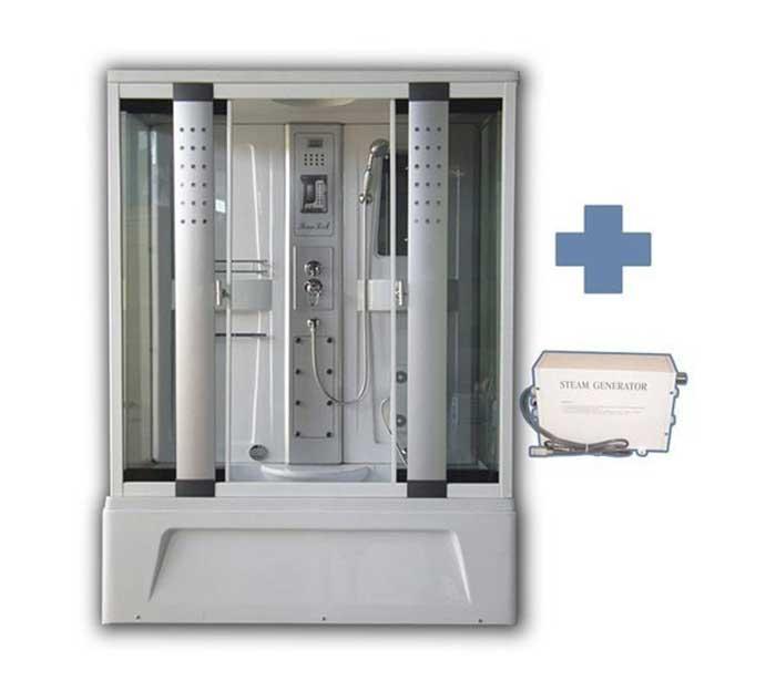Box doccia idromassaggio Estasi con vasca 150x85 cm