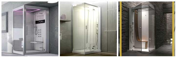 Cabine doccia jacuzzi collage foto