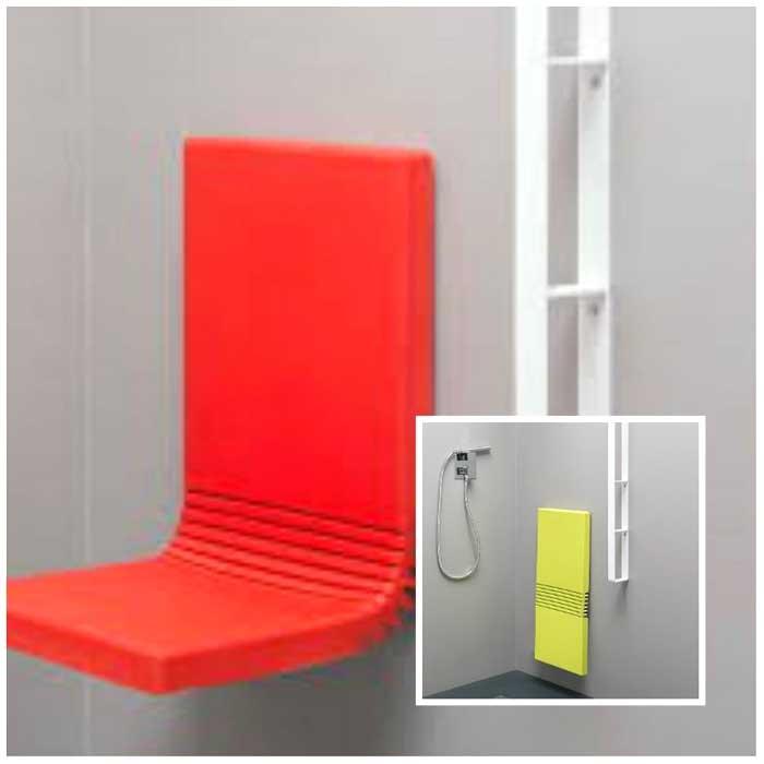 Seduta pieghevole per cabina doccia Ever Tuck Tall