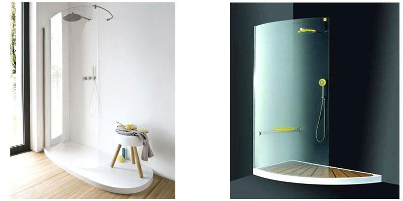 esempi piatti doccia curvilineo e a mezza luna