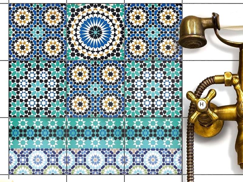 piastrelle decorate per rivestire il bagno sitle greco