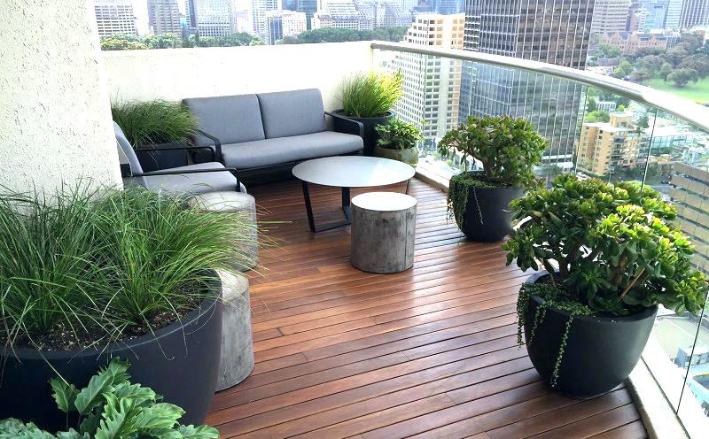 terrazza ristrutturata stile moderno