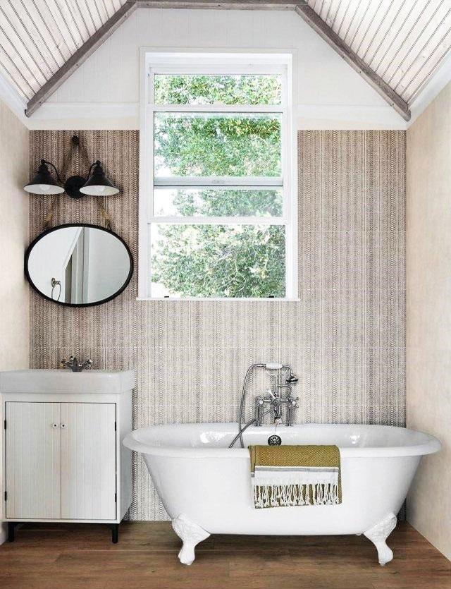 rivestimento per il bagno in effetto tessuto idea 5