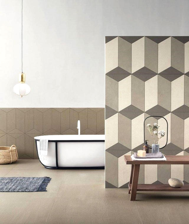 rivestimento per il bagno in effetto tessuto idea 6