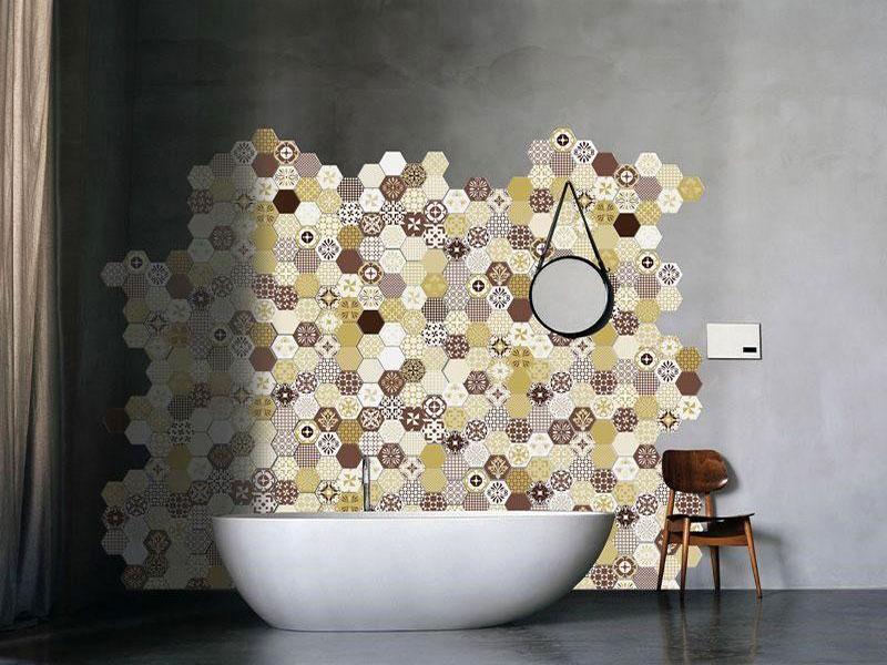 rivestimento con cementine per bagno