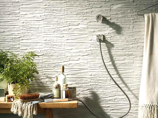 rivestimento effetto muretto moderno per bagno