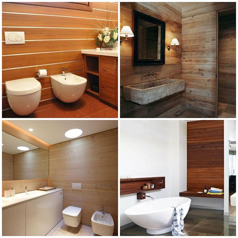 rivestimenti bagno in legno idee