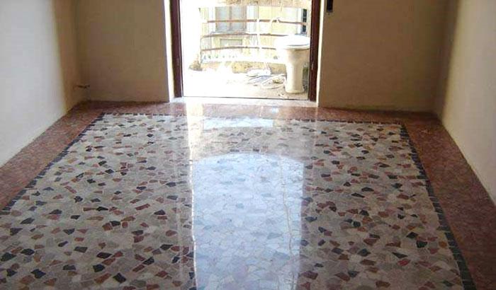 pavimento graniglia idea 1 casa anni 70