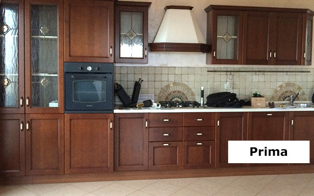 Cucina prima della ristrutturazione