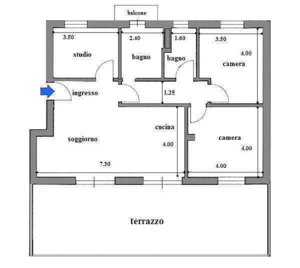 Ampliamento casa con realizzazione della veranda - prima