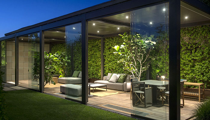 Ampliamento casa con realizzazione serra bioclimatica