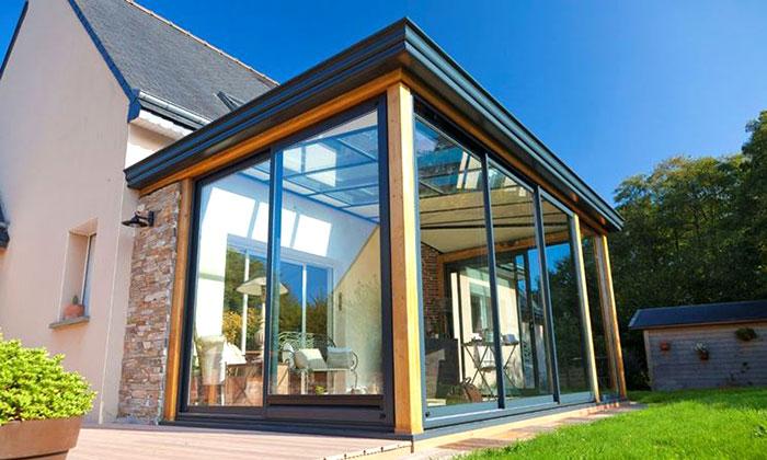 Ampliamento casa costruzione veranda