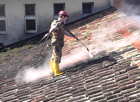pulizia e manutenzione del tetto