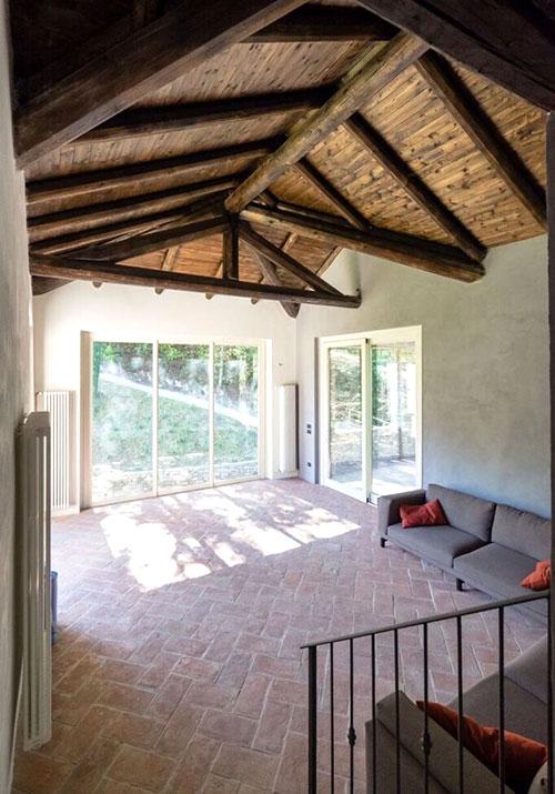 ristrutturazione tetto con legno noce