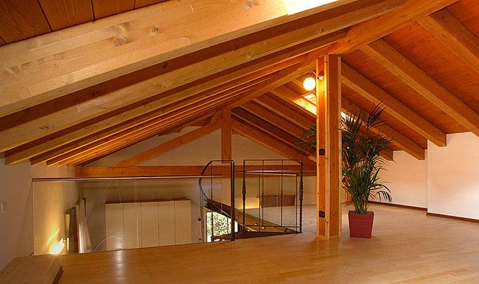 ristrutturazione tetto con legno quercia