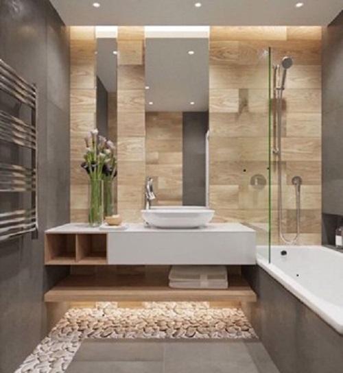 controsoffitto in cartongesso per bagno elegante