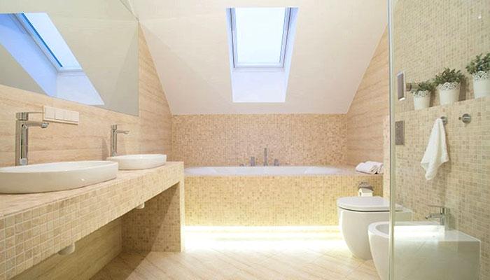 controsoffitto per bagno in cartongesso per lucernario